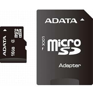 ADATA microSD 16GB Class4 SD変換アダプタ付き 永久保証