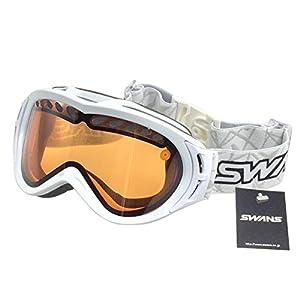 SWANS(スワンズ) ゴーグル スキー スノーボード 曇り止めダブルレンズ O-605DH W ホワイト