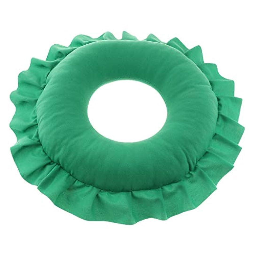 予想する高音のためにD DOLITY マッサージ枕 顔枕 マッサージピロー 美容院 柔らかくて快適 取り外し可能 洗える 全4色 - 緑