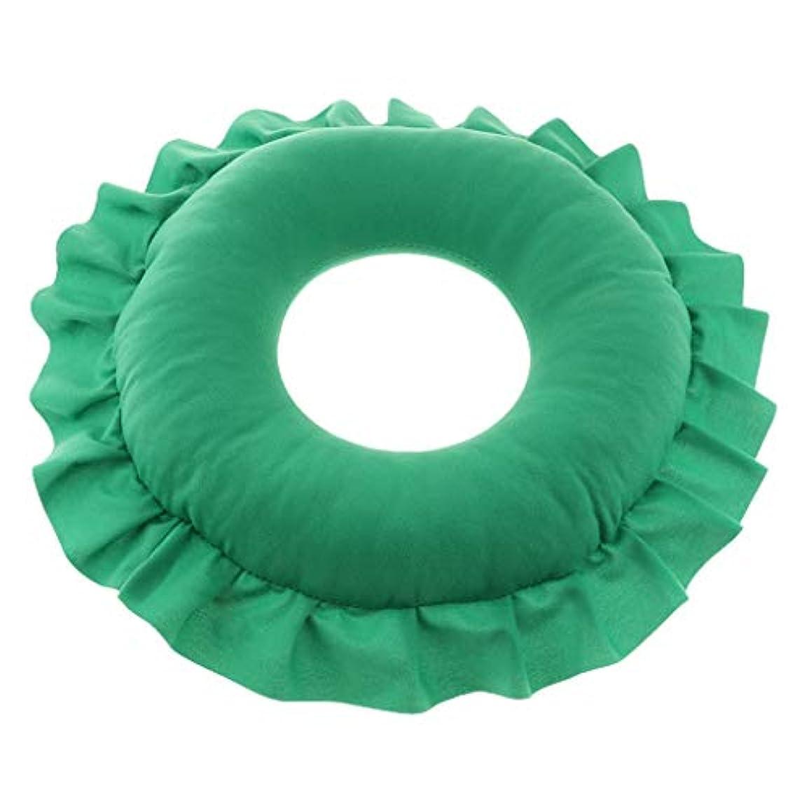 寝てる演じる盲目D DOLITY マッサージ枕 顔枕 マッサージピロー 美容院 柔らかくて快適 取り外し可能 洗える 全4色 - 緑