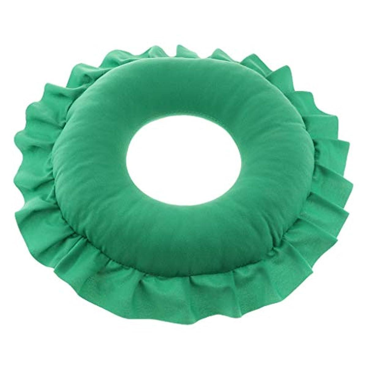 合唱団アナロジー情報D DOLITY マッサージ枕 顔枕 マッサージピロー 美容院 柔らかくて快適 取り外し可能 洗える 全4色 - 緑