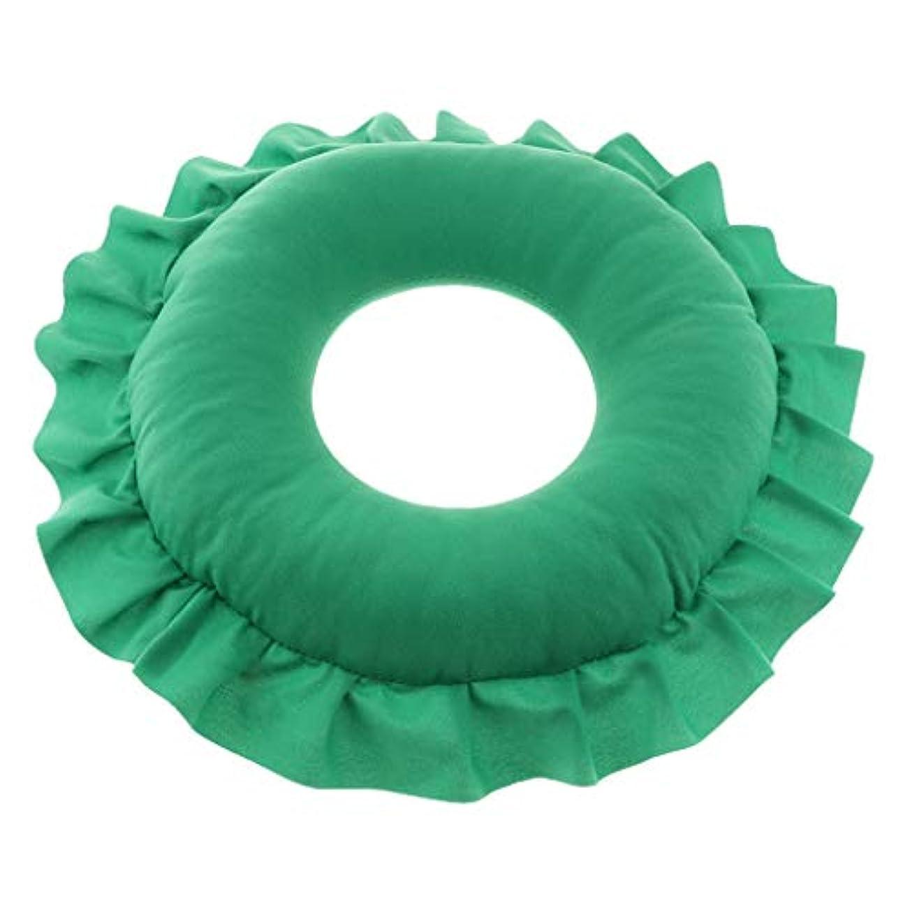 いらいらさせるペインギリック水っぽいD DOLITY マッサージ枕 顔枕 マッサージピロー 美容院 柔らかくて快適 取り外し可能 洗える 全4色 - 緑