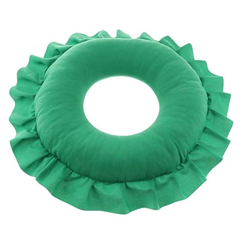 D DOLITY マッサージ枕 顔枕 マッサージピロー 美容院 柔らかくて快適 取り外し可能 洗える 全4色 - 緑