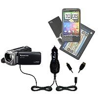 GomadicデュアルDC車オートミニ充電器Designed for the Panasonic hdc-sdx1h HDビデオカメラ–Uses Gomadic複数のデバイスを充電するin Your Car