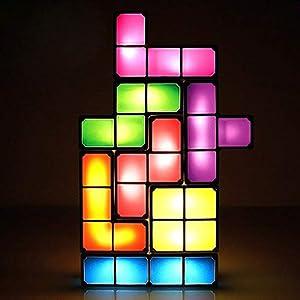 LEDライト テトリスライト 照明【TETRIS LED light】TETRIS照明 7色のブロック 組み立て自由 テトリス ブロック USB おもちゃ スポットライト デスクライト プレゼント ギフト 人気 インテリア