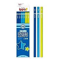 かきかたえんぴつ(六角・男の子)4B マジック風 スマイル 印刷 黒色 KB-KPM04-4B トンボ鉛筆 ippo! 名入れ無料 名入れ えんぴつ 鉛筆 mirai