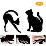 Cats Eyeliner Stencils Ourine 2 Pcs Eyeshadow Contour Make Up Tool for Loupe Clean Smokey Eyes and Cateyes