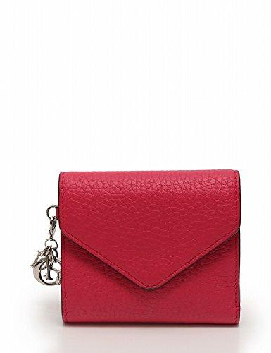 (クリスチャンディオール) Christian Dior 財布 三つ折り ディオリッシモ レザー ピンク 中古
