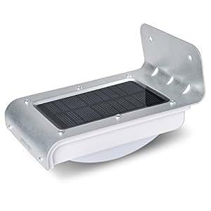LEPOWER ソーラー充電式LEDライト 16個LED電球 センサー搭載 アウトドアライト