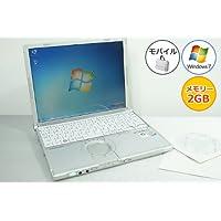 【中古パソコン】 ノートパソコン Panasonic レッツノート CF-W8 Core2Duo-1.20GHz 2GB 120GB DVDスーパーマルチ Windows7搭載 12.1型 1024x768 無線LAN リカバリ付 CF-W8EWJAAS MRR