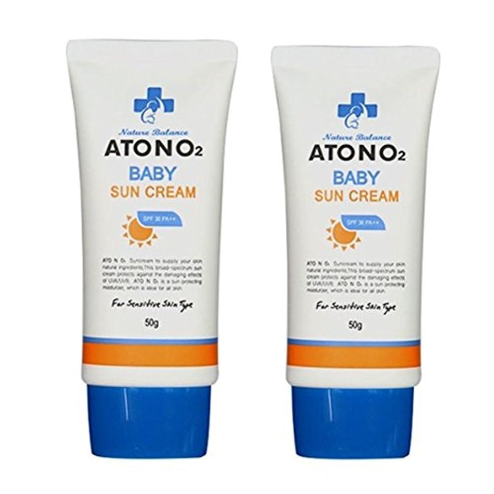 市町村発火するミキサー(ATONO2) ベビーサン?クリーム (SPF30/PA++) 50g x 2本セット ATONO2 Baby Sun Cream (SPF30/PA++) 50g x 2ea Set [並行輸入品]