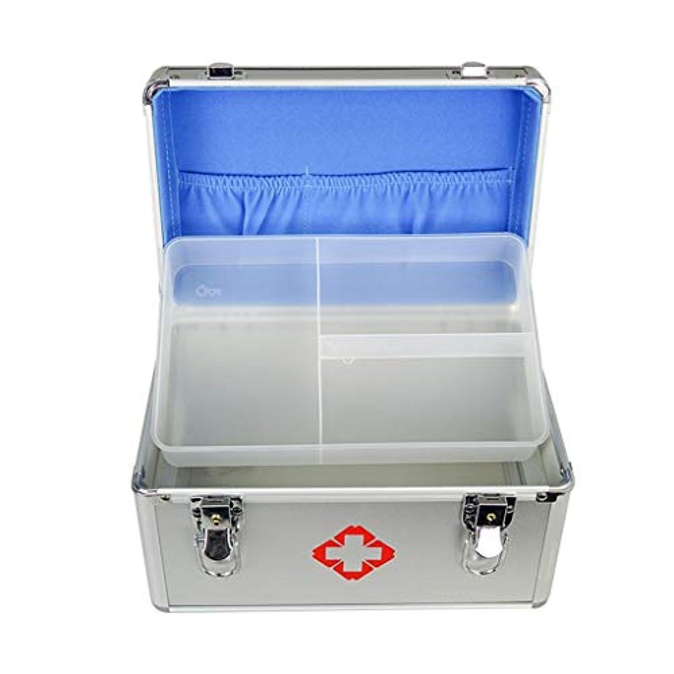 運命的な開拓者どこTXOZ 家庭用薬箱多層薬収納箱アルミ救急箱救急箱 (Size : 35cm×23cm×23cm)