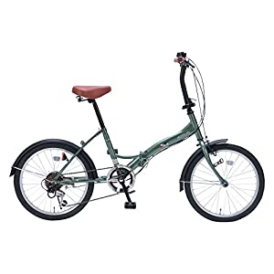 My Pallas(マイパラス) 折りたたみ自転車 M-209 20インチ 6段変速 アイビーグリーン