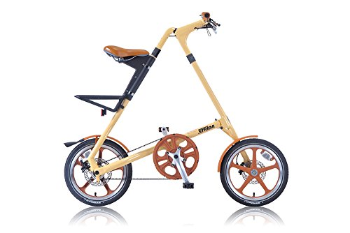 STRIDA(ストライダ) 16インチ折りたたみ自転車 シングルスピード アルミフレーム 前後ディスクブレーキ STRIDA LT CREAM