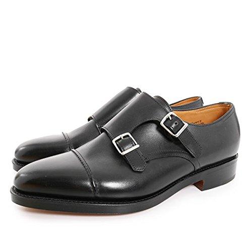 JOHN LOBB ジョンロブ メンズ 9795 WILLIAM2 CALF ウィリアム2 カーフレザー ダブルモンク ドレスシューズ 革靴 ストレートチップ ビジネス カラーBLACK BLACK 11 [並行輸入品]