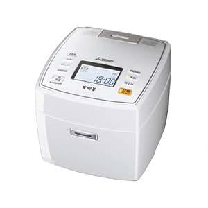 三菱電機 IHジャー炊飯器 備長炭炭炊釜 5.5合炊き ピュアホワイト NJ-VX106-W