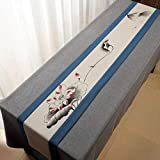 QY テーブルランナー コットンとリネン テーブルフラグ 素朴な 端 レトロ 古い シック 結婚式 デコレーション 屋外の パーティー デコレーション QY テーブルランナー (Color : T6, Size : 30*180 CM)