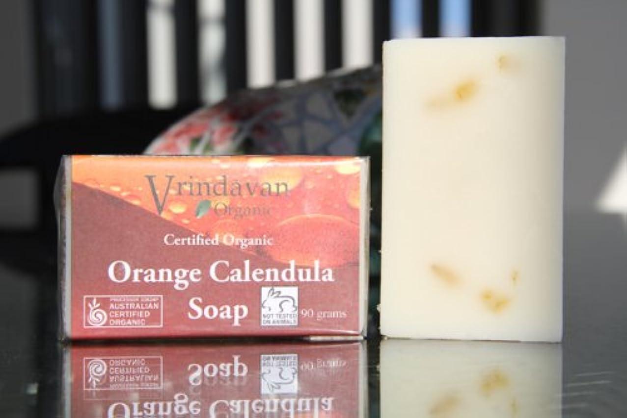 ビールぞっとするような驚いたヴリンダバン オーガニックソープ No.3 Orange Calendula