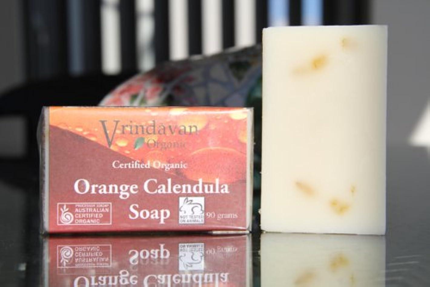 容疑者積極的に豊富なヴリンダバン オーガニックソープ No.3 Orange Calendula