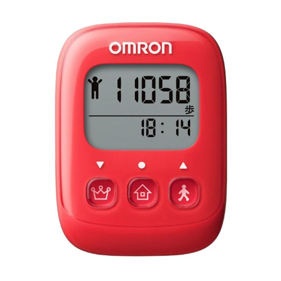 広々適応毎月オムロン(OMRON) 歩数計 WellnessLink レッド HJ-326F-R