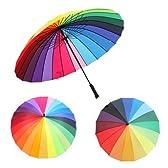 男女兼用 パラソル 雨晴兼用 UVカット レインボー傘 傘虹の傘 bf403-ys05(24K)