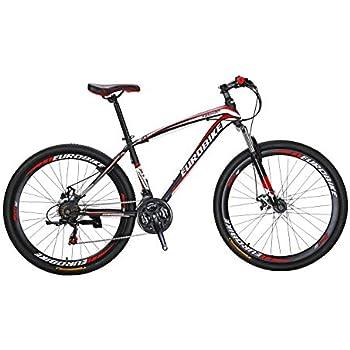 Extrbici X1 マウンテンバイク MTB 自転車 27.5インチ アルミフレーム シマノ21段変速 ディスクブレ-キ (赤)