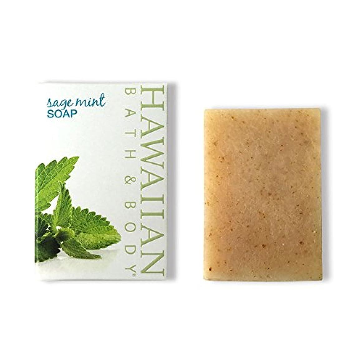 敏感な身元昼寝ハワイアンバス&ボディ セージ?ミントソープ(オーシャンミント)( Sage Mint Soap )