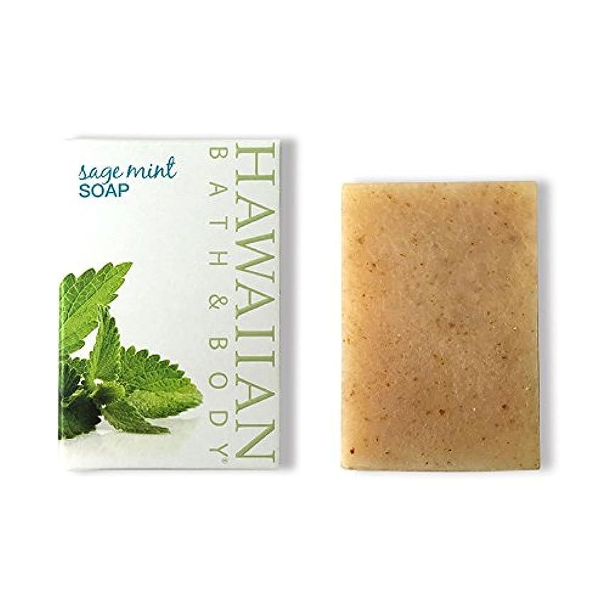 拾うメインまっすぐにするハワイアンバス&ボディ セージ?ミントソープ(オーシャンミント)( Sage Mint Soap )