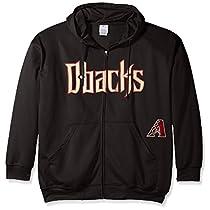 Arizona Diamondbacks Mens Full Zip時間遅延Hoodieブラックビッグ&トールサイズ 4XT