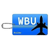 ボルダーCO - 市営空港(WBU)空港コード IDカード荷物タグ