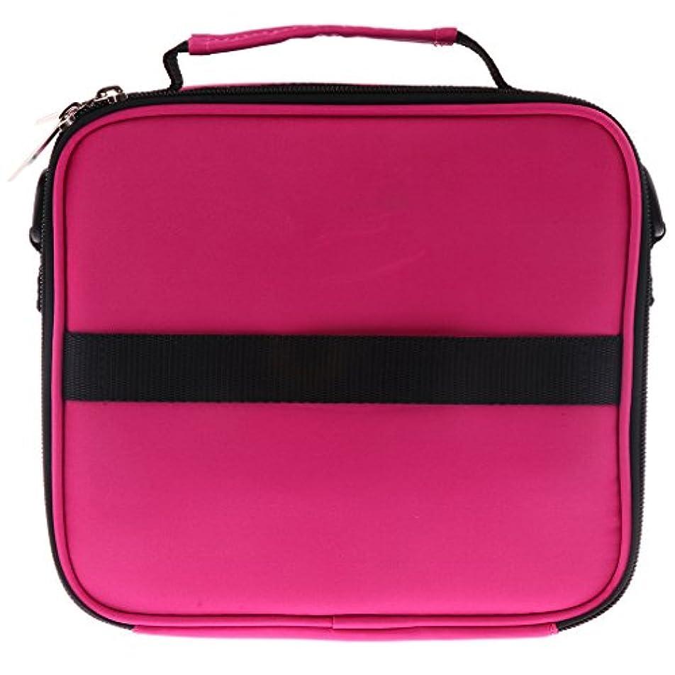 ミシン分離するスラダム全6色 アロマポーチ エッセンシャルオイル ケース 香水収納バッグ アロマケース 携帯用 30本用 - ローズレッド