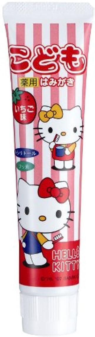 概念検出する出発するキティ 歯磨き粉(イチゴ)