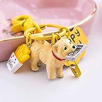 PLL かわいいキーホルダー車のキーペンダントクリエイティブな樹脂の犬かわいいキーリング