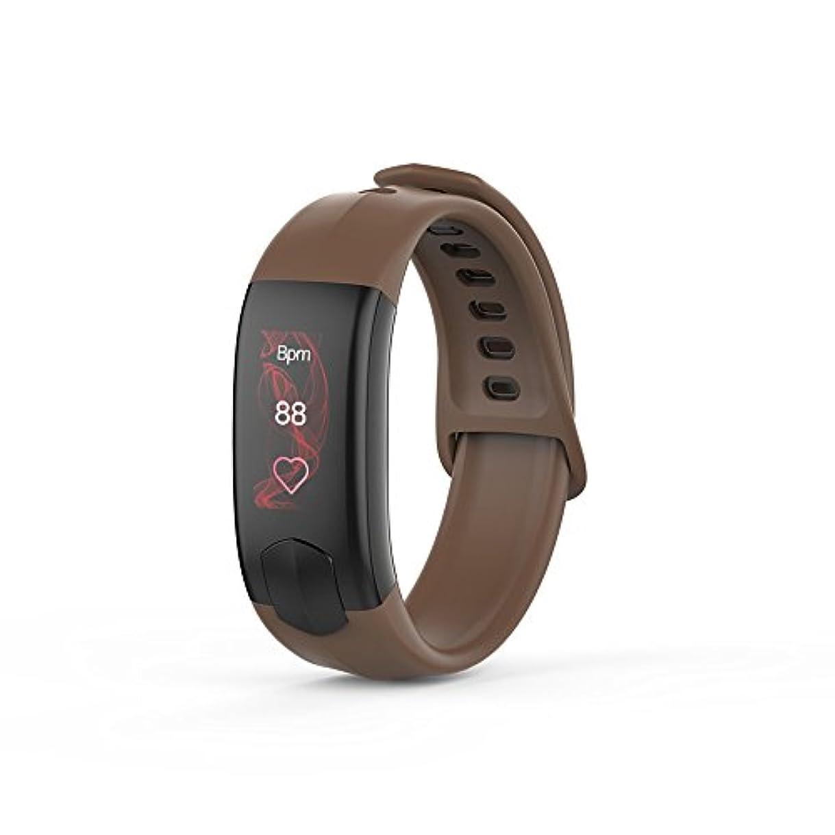 結果として段階ネストbusindaアクティビティWatch with Heart Rate Monitor血圧スリムスマートブレスレット歩数計リストバンドforキッズレディースメンズ