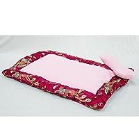 KuangfuMall ペット用ボルスタ犬用ベッドコンフォートサテン長方形ペット用トイレ砂の犬用マット (Color : A)