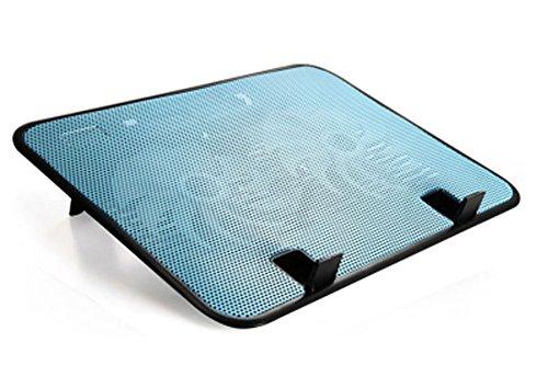 ノートパソコン 冷却台 冷却ファン pcファン 【冷えまクール】10-14インチ対応 ノートPC クーラー 140mm 大型 静音 ファン 2基 と アルミ メッシュ 加工 スタンド 付き で 強力に 冷却 軽量 薄型 設計 で 持ち運びも 簡単 自宅 オフィス 使用 に 最適 高温 排熱 放熱 対策 に usb端子  熱暴走 や pc の 故障 熱対策に(青)