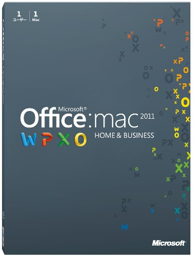 Microsoft Office for Mac Home and Business 2011-1パック