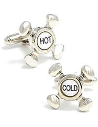 メンズCuff Links Hot and Cold Faucet Cufflinks
