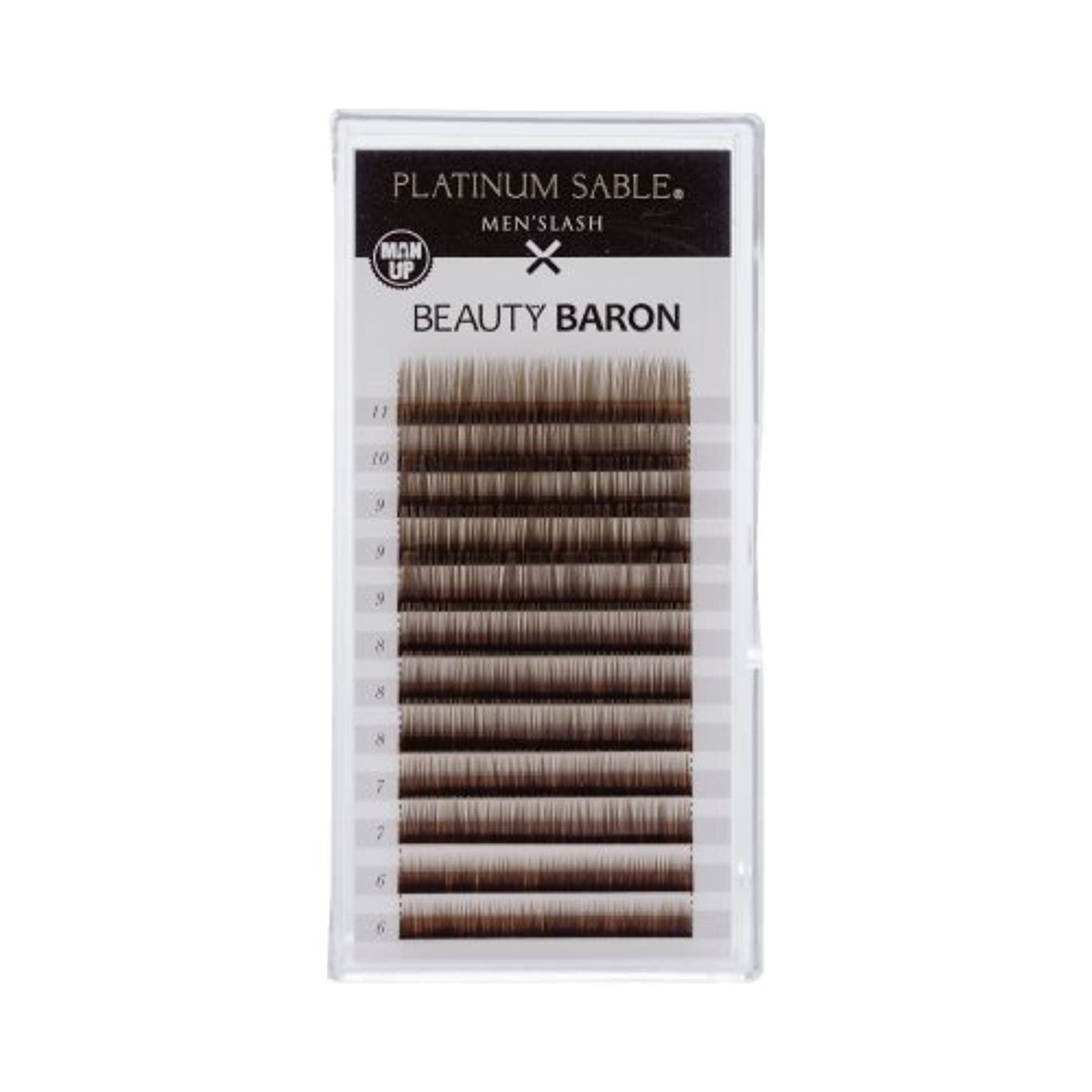 トロピカル質量アブセイプラチナセーブル メンズラッシュ 0.10mm Iカール 6-11MIX ブラックブラウン