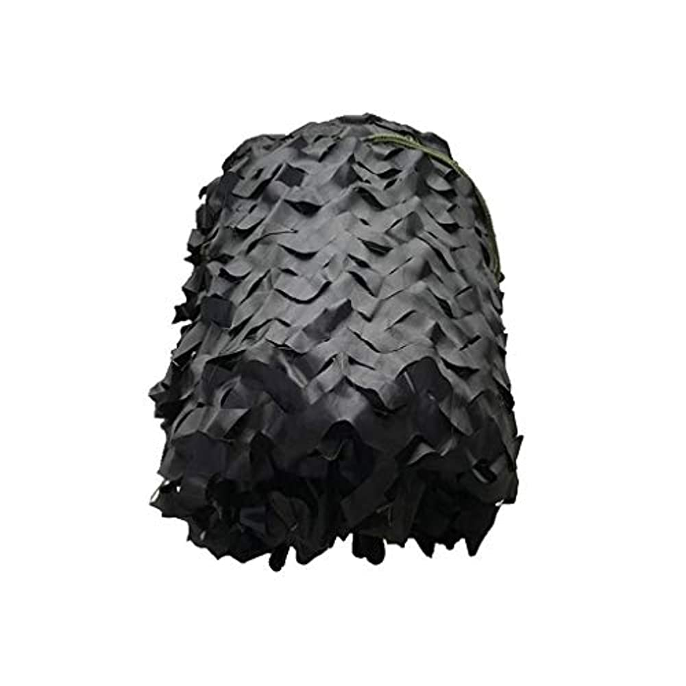 利点ハーフ柔らかい黒迷彩ネットはサイズガーデン屋外サイト軍事日焼け止めネットフラワーフィールド荒野狩猟迷彩キャンプ写真迷彩ネットマルチカラーサイズをカスタマイズすることができます。 (Size : 2*6m(6*19ft))