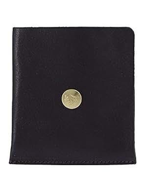 (イルビゾンテ) IL BISONTE 二つ折り財布 ブラック C0646 P 153 BLACK [並行輸入品]