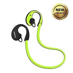 Imarku Bluetooth 4.0 スポーツイヤホン ワイヤレスステレオヘッドセット 防汗機能付き iphone,androidなど対応 高音質(green)