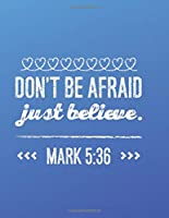 DON'T BE AFRAID.  JUST BELIEVE: MARK 5:36