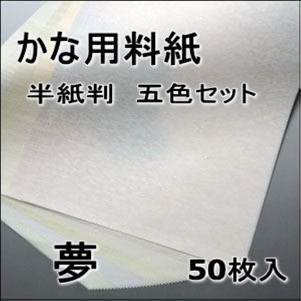 監査基礎理論勉強する半紙屋e-shop 半紙判 かな清書用料紙 夢5色セット 金銀砂子