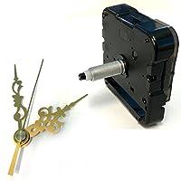 手作り時計用ムーブメント 時計シャフト & 針セット (ロングシャフト, 唐草・金Q-3)