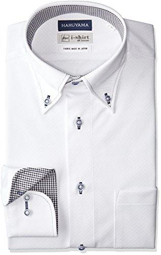 [ハルヤマ] i-Shirt 完全ノーアイロン 長袖 ボタンダウンアイシャツ M151180079 メンズ ホワイト 日本 L84(...