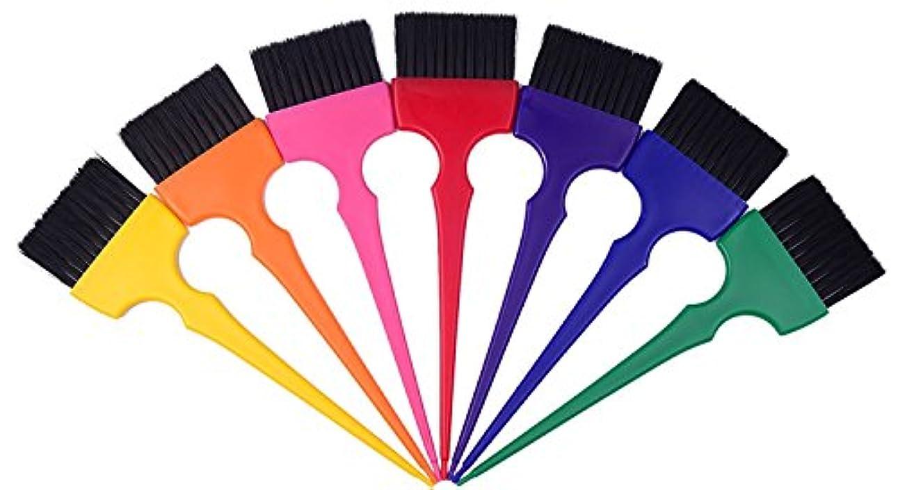 メンタリティ平らなおびえたヘアカラーリングブラシキットカラーリングアプリケーターティントブラシセット-7色