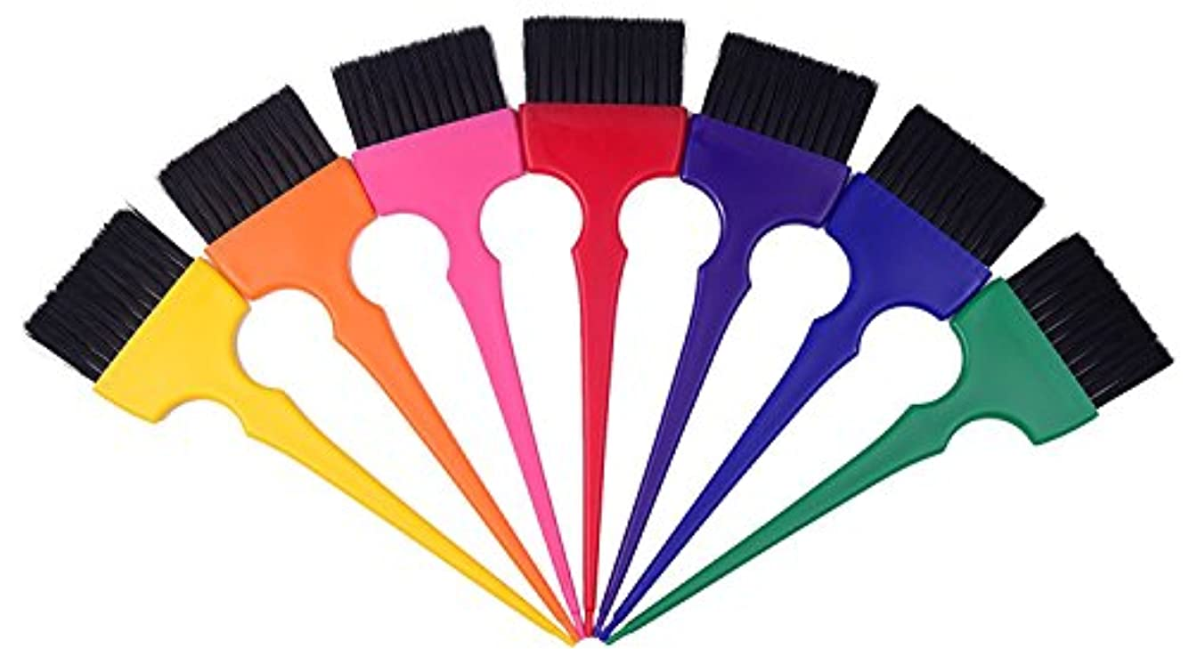 割合卒業記念アルバムタオルヘアカラーリングブラシキットカラーリングアプリケーターティントブラシセット-7色