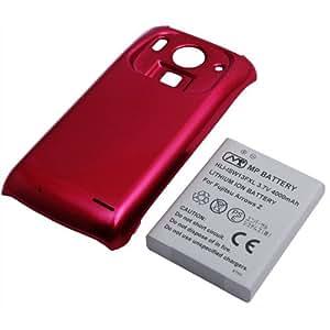 PDA工房 【PSE認証済】標準バッテリーの約2.2倍の大容量(4000mAh)超大容量バッテリーパック ARROWS Z ISW13F(レッド)