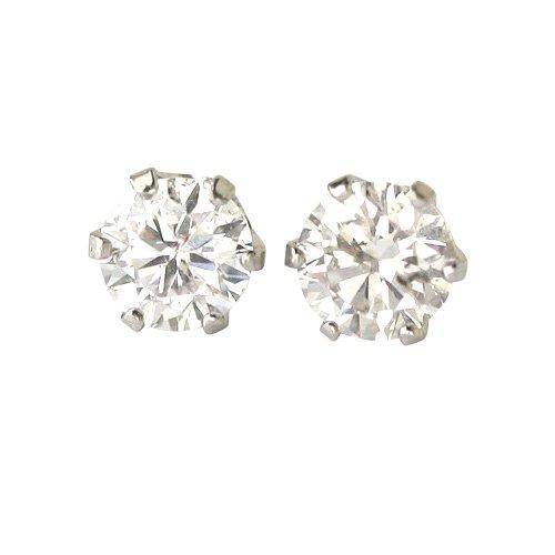【 DIAMOND WORLD 】レディース ジュエリー PT900 ダイヤモンド ピアス 0.30ct F・Gカラー無色透明 ダイヤ使用 6本爪タイプ